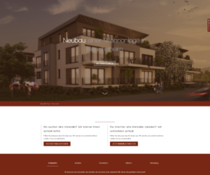 Cornelius Immobilien Homepage Screenshot