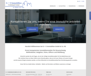 G+S Immobilien Homepage Screenshot