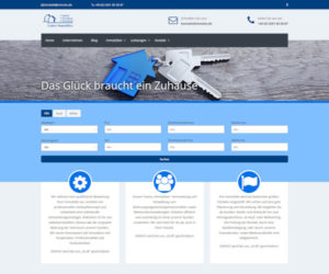 Screenshot Homepage Luther Immobilien